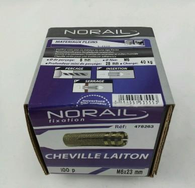 Cheville laiton L23xDi8mm