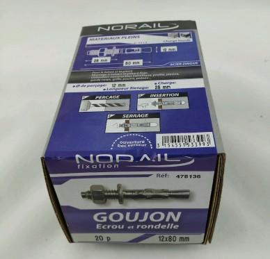 Goujon d ancrage L80xDi12mm