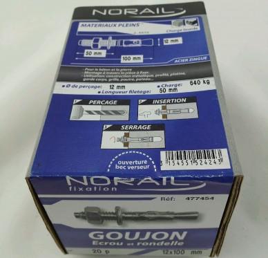 Goujon d ancrage L100xDi12mm