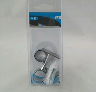 Support de milieu fixe pour tube de penderie Ø 19 mm Acier chromé