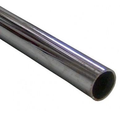 Tube de penderie en acier chromé 2 mètres