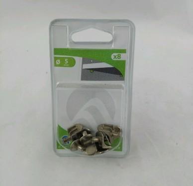 Taquet d'étagère à enfoncer Perçage Ø 5 mm métal nickelé