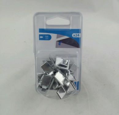 Taquet d'étagère pour crémaillère de 11 à 14 mm alu ton argent