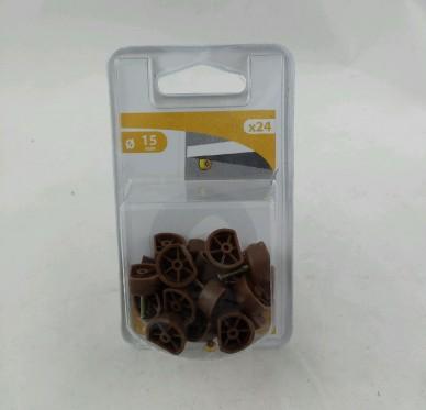 Taquets d'étagère à clouer Ø 15 mm Plastique brun