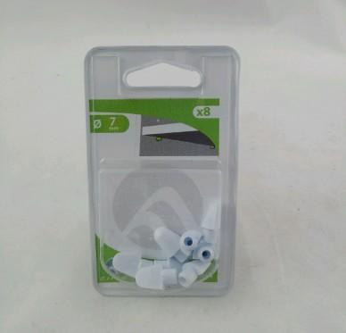 Taquet d'étagère à enfoncer Perçage Ø 5 mm blanc