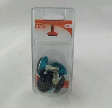 Vérin pour pied rond et carré filetage M10 réglable de 8 à 20 mm