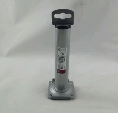 Pied rond avec embout plastique taraudé Platine 60 x 60 mm Diam 30 mm H  150 mm