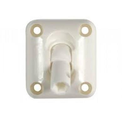 Passe caisson à rotule, pour tige 6 pans de 7 mm et genouillère Ø12mm