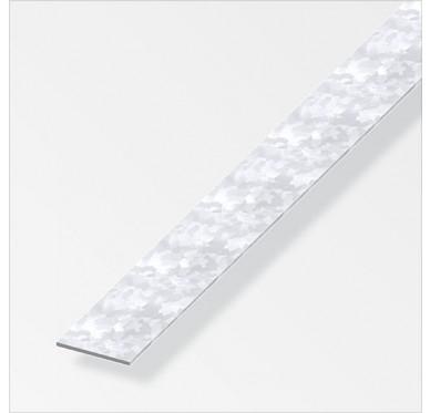 Plat profilés à froid 23.5 X 1.2 mm en acier zingués de longueur 1m