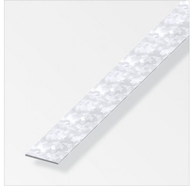Plat profilés à froid 35.5 x1.5 mm en acier zingué de longueur 1m