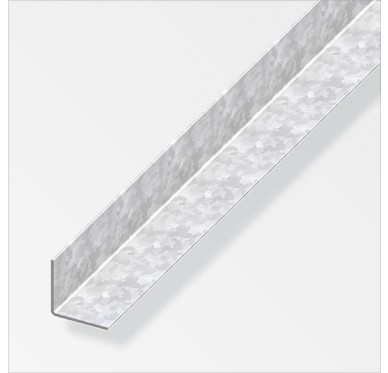 Cornière égale acier profilé à froid en acier zinguée 23.5x1.2mm de longueur 1m