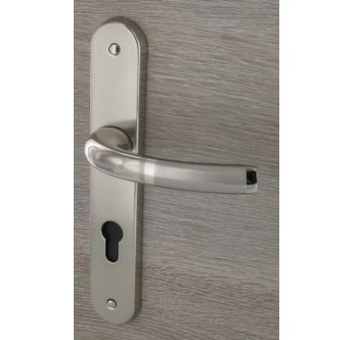 Poignée Kréativa - trou de clé barillet Laiton gris