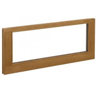 Imposte fixe à vitrer en bois exotique H60 x 90 cm