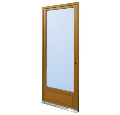 Porte-fenêtre en Bois Exotique 1 vantail tirant droit  H215 x  L80 cm