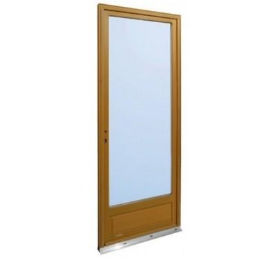 Porte-fenêtre en Bois Exotique 1 vantail tirant gauche  H215 x  L90 cm