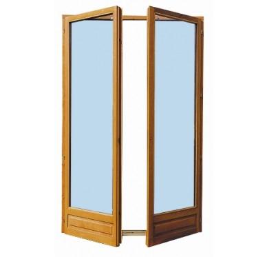Porte fenêtre 2 vantaux en bois exotique H205 x L100 cm