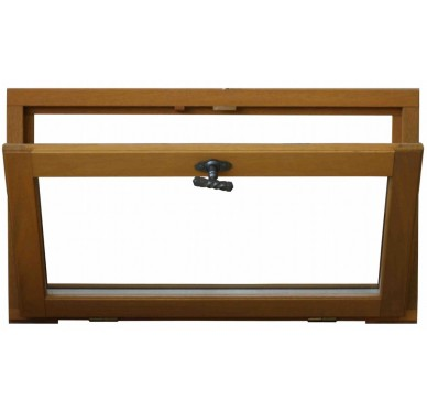 Fenêtre abattant en bois exotique H45 x L120 cm