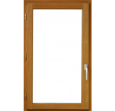 Fenêtre en bois exotique 1 vantail Tirant gauche H95 x L80 cm
