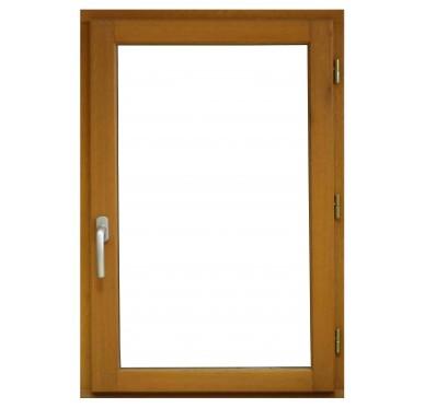 Fenêtre en bois exotique 1 vantail Tirant droit H105 x L80 cm