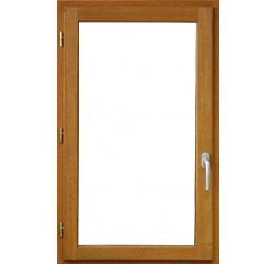 Fenêtre en bois exotique 1 vantail Tirant gauche H125 x L60 cm