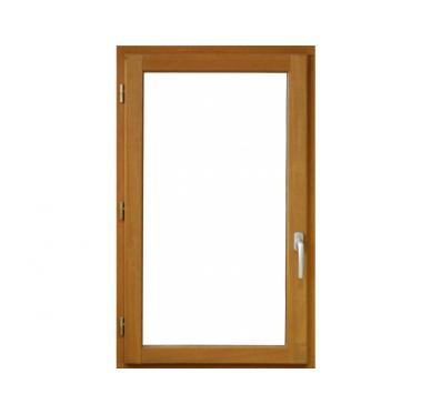 Fenêtre en bois exotique 1 vantail Tirant droit H125 x L80 cm