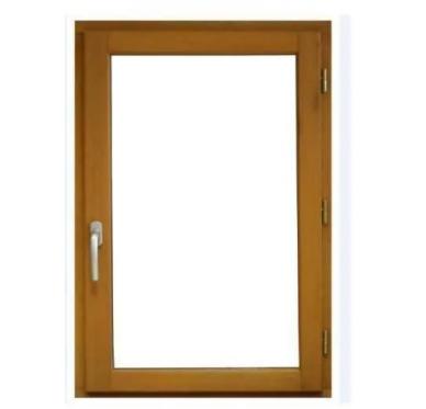 Fenêtre en bois exotique 1 vantail Tirant gauche H125 x L80 cm