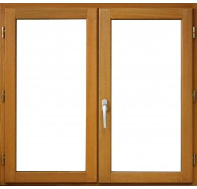 Fenêtre 2 vantaux en bois exotique H125xL140cm