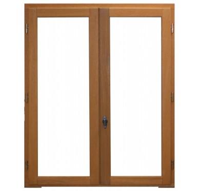 Fenêtre 2 vantaux en bois exotique H145xL120cm