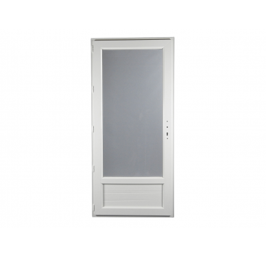 Porte-fenêtre PVC Gamme E.PRO 1 vantail tirant gauche H 215 x L 90 cm