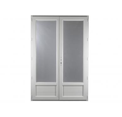 Porte-fenêtre PVC Gamme E.PRO 2 vantaux H 215 x L 150 cm