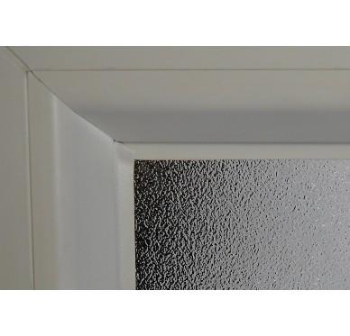 Fenêtre PVC Gamme E.PRO verre granité 1 vantail tirant droit H 45 x L 40 cm