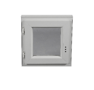 Fenêtre PVC Gamme E.PRO 1 vantail tirant gauche H 60 x L 40 cm