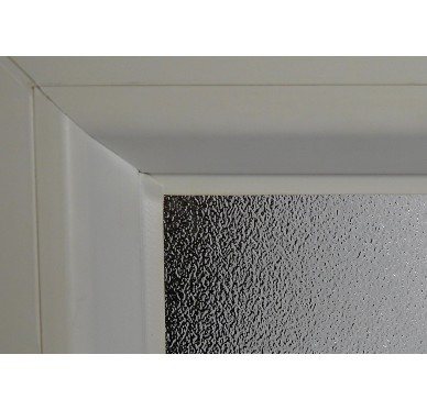 Fenêtre PVC Gamme E.PRO verre granité 1 vantail tirant gauche H 60 x L 50 cm