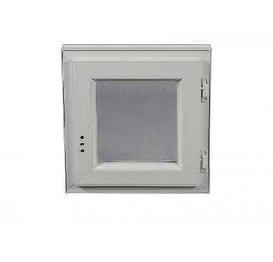 Fenêtre PVC Gamme E.PRO 1 vantail tirant droit H 60 x L 60 cm