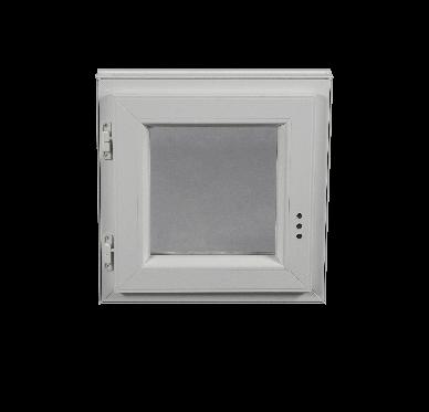 Fenêtre PVC Gamme E.PRO 1 vantail tirant gauche H 60 x L 60 cm