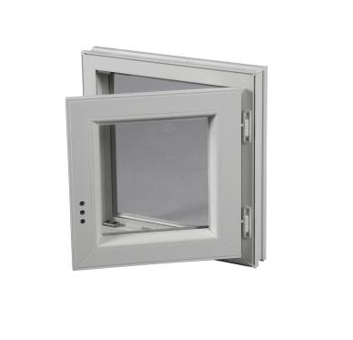 Fenêtre PVC Gamme E.PRO 1 vantail tirant droit H 75 x L 40 cm