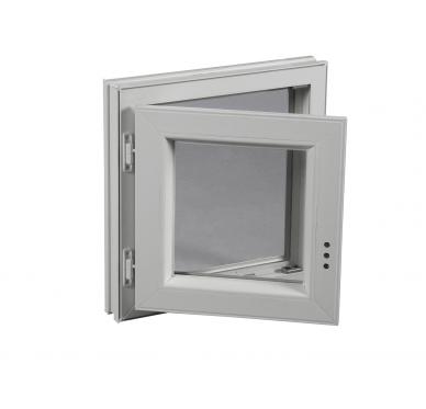 Fenêtre PVC Gamme E.PRO 1 vantail tirant gauche H 75 x L 40 cm