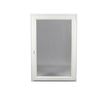 Fenêtre PVC Gamme E.PRO 1 vantail tirant droit oscillo-battante H 75 x L 60 cm