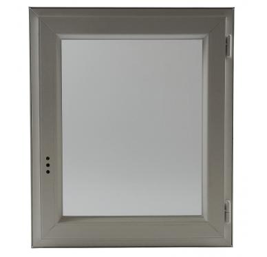Fenêtre PVC Gamme E.PRO verre granité 1 vantail tirant droit H 75 x L 60 cm