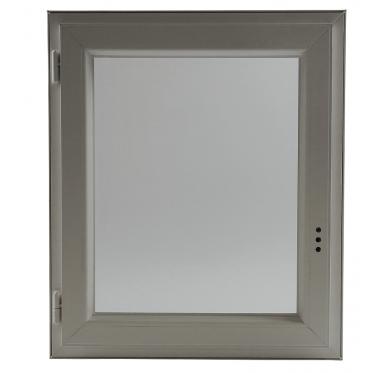 Fenêtre PVC Gamme E.PRO verre granité 1 vantail tirant gauche H 75 x L 60 cm