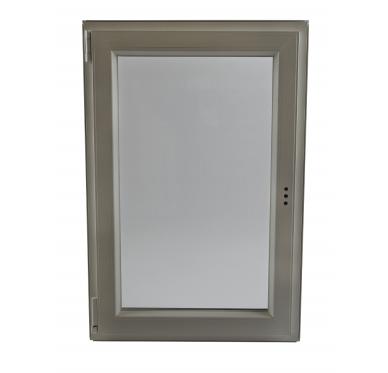 Fenêtre PVC Gamme E.PRO 1 vantail tirant gauche oscillo-battante verre granité H 95 x L 60 cm
