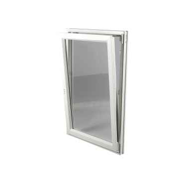 Fenêtre PVC Gamme E.PRO 1 vantail tirant droit oscillo-battante H 105 x L 80 cm