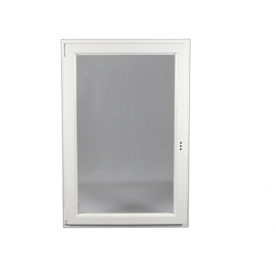Fenêtre PVC Gamme E.PRO 1 vantail tirant gauche oscillo-battante H 105 x L 80 cm