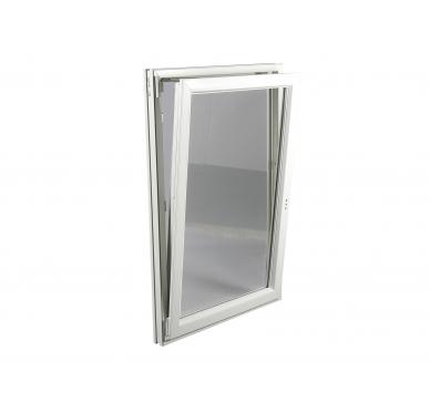 Fenêtre PVC Gamme E.PRO 1 vantail tirant gauche oscillo-battante H 115 x L 80 cm