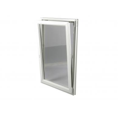 Fenêtre PVC Gamme E.PRO 1 vantail tirant droit oscillo-battante H 125 x L 80 cm