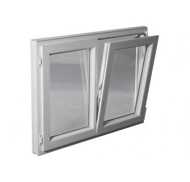 Fenêtre PVC Gamme E.PRO 2 vantaux oscillo-battante H 145 x L 100 cm