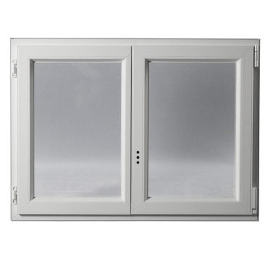 Fenêtre PVC Gamme E.PRO 2 vantaux oscillo-battante H 155 x L 90 cm