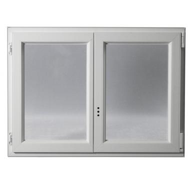 Fenêtre PVC Gamme E.PRO 2 vantaux oscillo-battante H 155 x L 100 cm