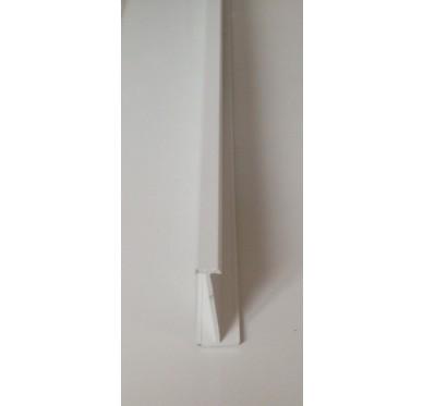 Profil de jonction blanc en PVC Gamme E.PRO x 3000 mm