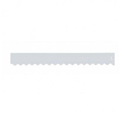 Bordure en acier galvanisé 99x120.08cm gris